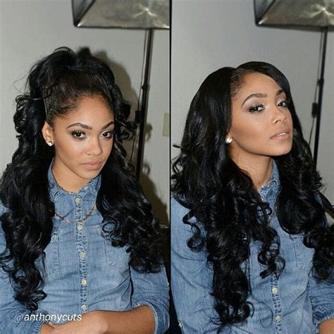 curly sew in weave big faces 564 best black hair weaves images on pinterest hair dos