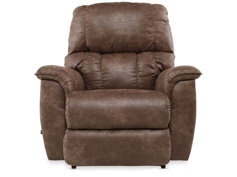 in recliner contemporary 38 quot rocker recliner in dark brown mathis