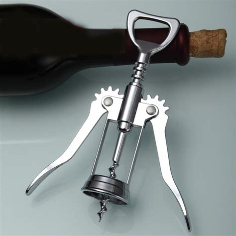 Tanica Stainless Steel Wine Opener Corkscrew Pembuka Wine 1pc stainless steel wing wine corkscrew bottle opener bar restaurant corkscrews openers