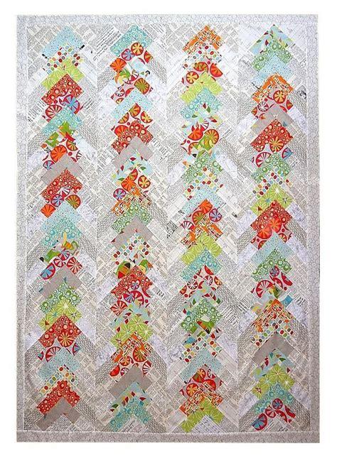 Pattern For Patchwork Quilt - modern chevron patchwork quilt pattern by tikki patchwork