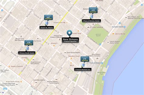 map of new orleans downtown hotels new orleans hotels map quarter nola uptown
