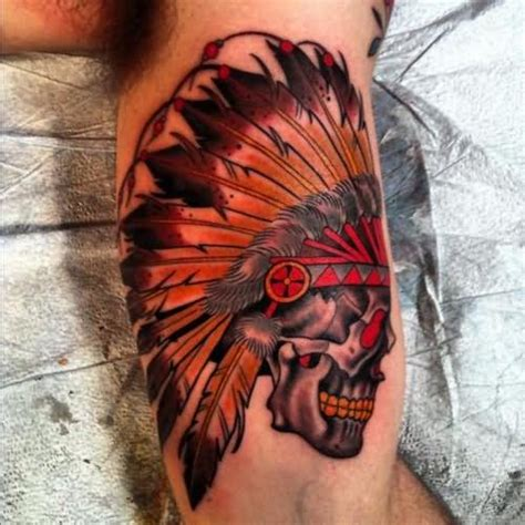 indian skull tattoo designs indian images designs
