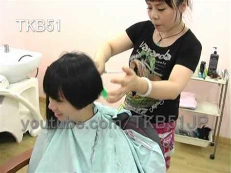 Short Bob At Barber | haircut 559 short bob ショートボブ youtube