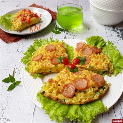 resep omelet mie resepkoki