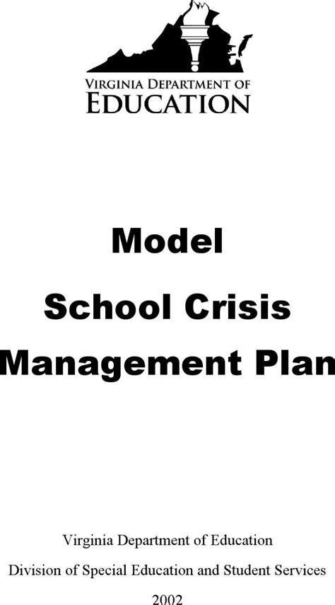school crisis management plan template crisis plan templates free premium templates