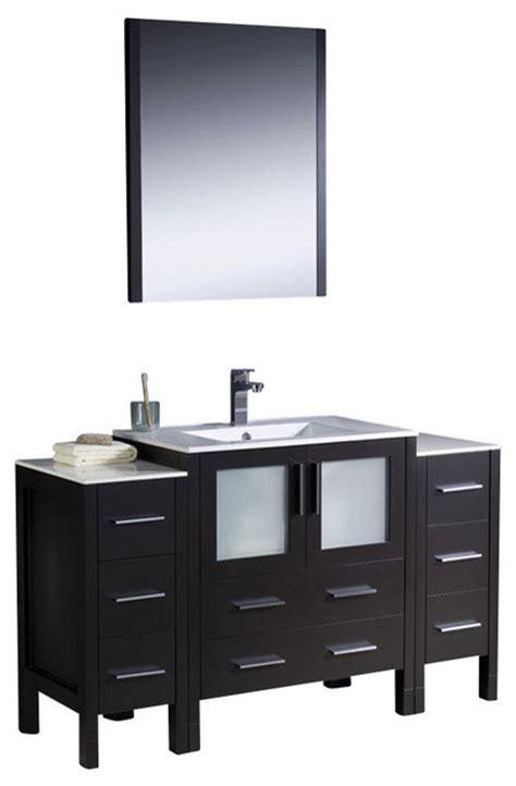 54 Inch Bathroom Vanity Cabinet by 54 Inch Modern Single Sink Vanity In Espresso Espresso
