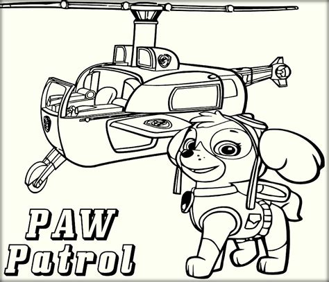 paw patrol lookout coloring page free nick jr paw patrol coloring pages
