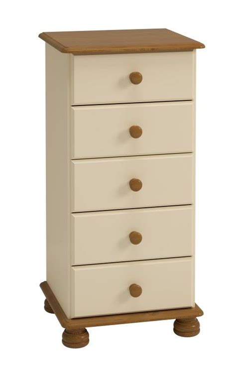 spencer 5 drawer chest living rooms dining rooms steens richmond cream pine 5 drawer narrow tallboy chest