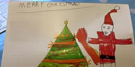 mums post  sons inappropriate christmas card prompts parents  share kids festive