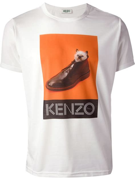 T Shirt Tag Heuer 1 2 White Broy lyst kenzo icons tshirt in white for