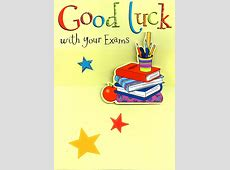 Good Luck With Your Exams Greeting Card 3D Flittered ... Final Exam Wishes