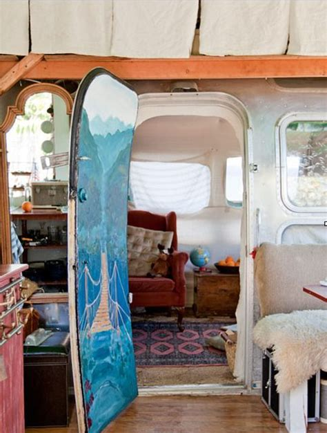 modified gypsy interior julie s unbelievable airstream trailer shed and art