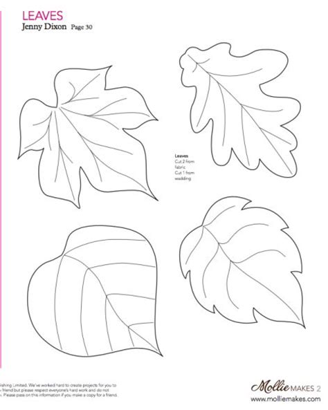 mollie makes felt leaf template cut out of craft foam to