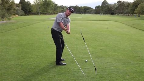 best pro golf swing to copy the swing plane gate drill with the alignment pro golf