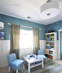 In my boy?s room , we painted his walls an intense teal called ?La