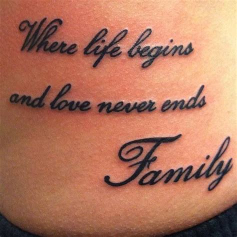 tattoo quotes on love and family family quote tattoo tattoos pinterest fonts the o