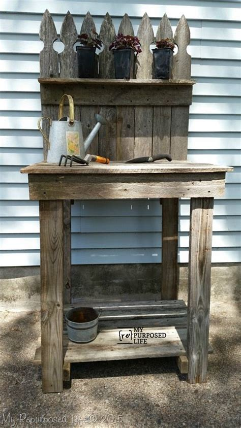how to make potting bench how to make a potting bench from scrap wood