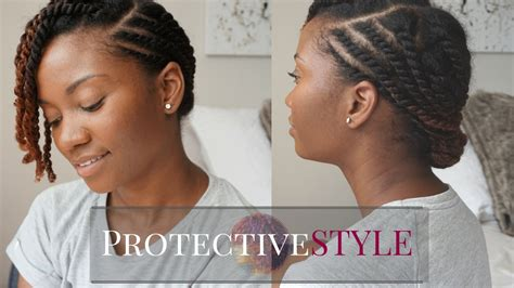 Protective Hairstyles For Hair Twist by Easy Flat Twist Protective Style Hair