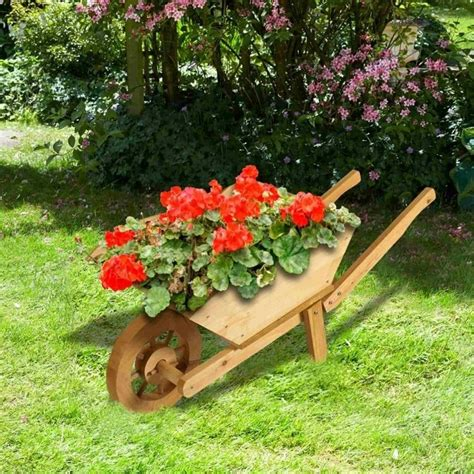 brundle gardener wooden wheelbarrow planter garden street