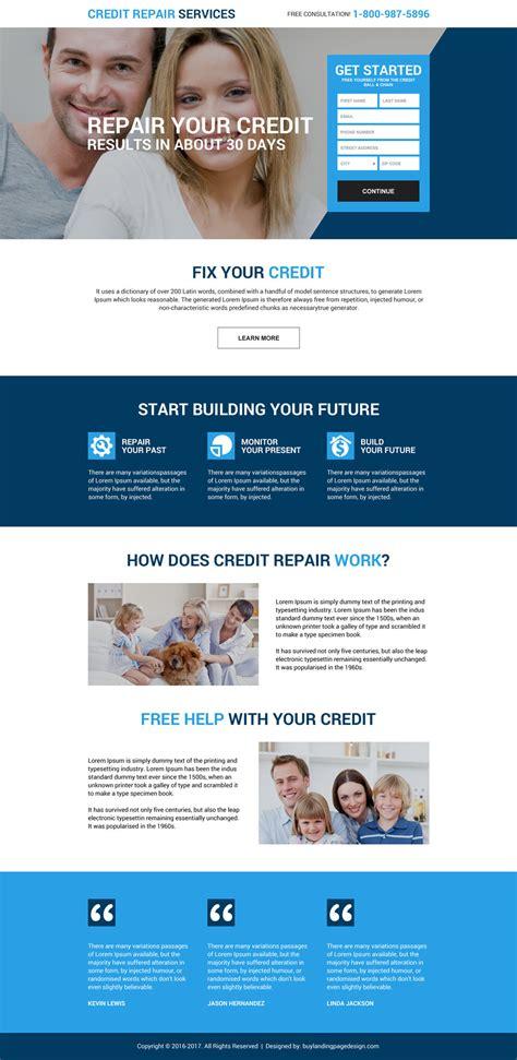 Credit Repair Landing Page Template free credit repair consultation lp 036 credit repair