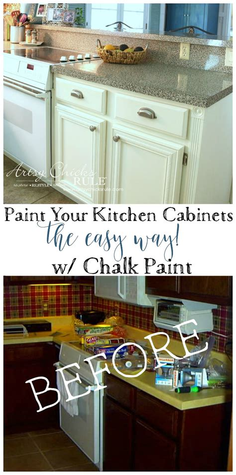 quick and easy way to paint kitchen cabinets kitchen cabinet makeover annie sloan chalk paint artsy
