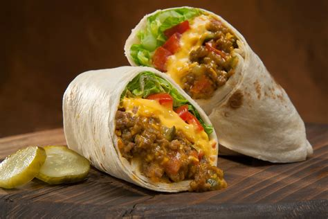 meals heels and cocktails cheeseburger burritos
