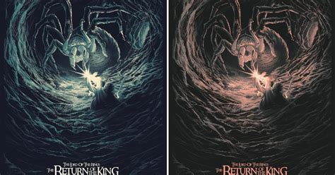 the blot says the lord of the rings the blot says lord of the rings the return of the king screen print by juan esteban