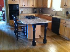 Kitchen Island Table Legs by Kitchen Island Support Legs And Skirt Make A Beautiful