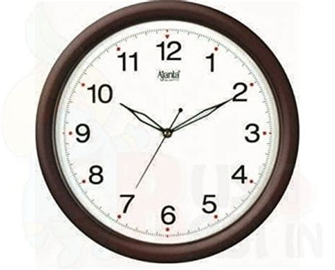 wall clock online amazon buy ajanta plastic orpat wall clock satin brown on