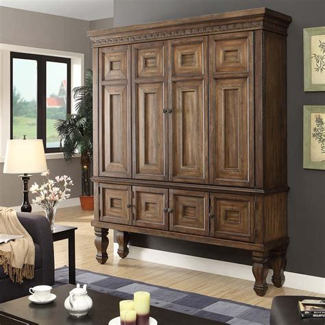 entertainment armoire vintage large pine armoire cabinet entertainment center tv