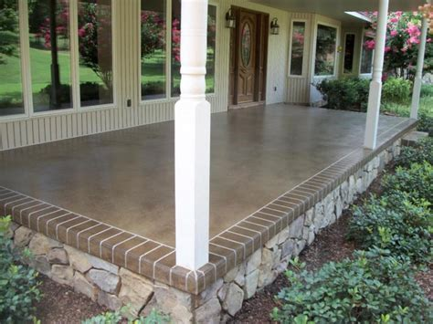 Brick Porch Floor by Exterior Concrete Front Porch Ideas Recommendation