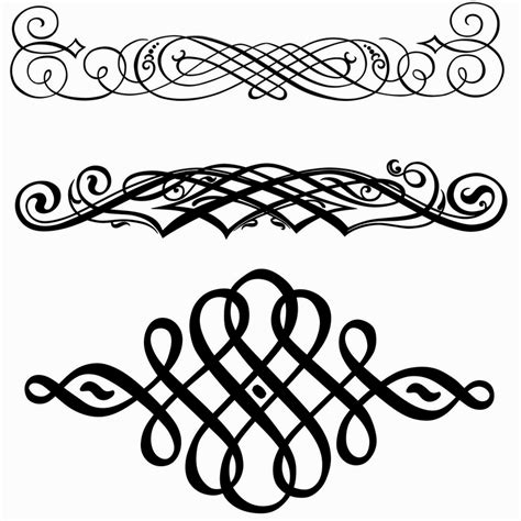 Decorative Flourish by Free Scroll Work Images Decorative Flourishes