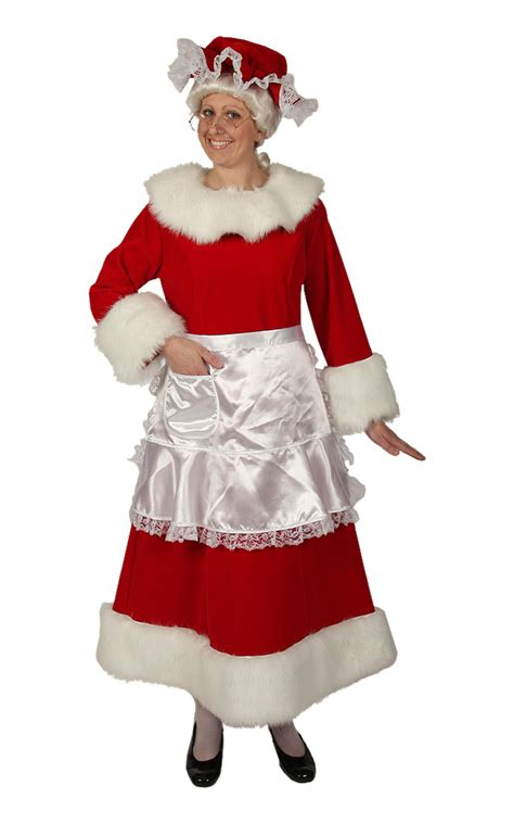 regal red velvet mrs claus dress santa supply online