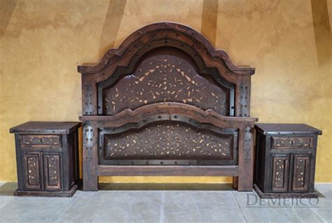 western beds western tooled leather bed alamo demejico