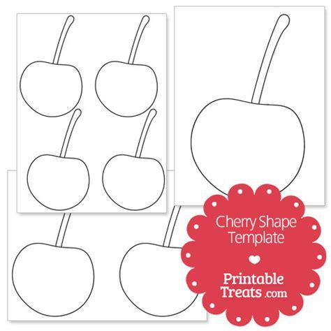 cherry template printable printable cherry shape template printable treats