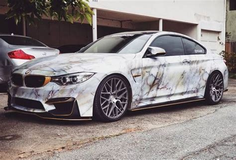 Marble Wrap BMW M4 Looks Rock Solid   autoevolution