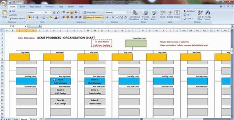 organizational chart template excel letter world