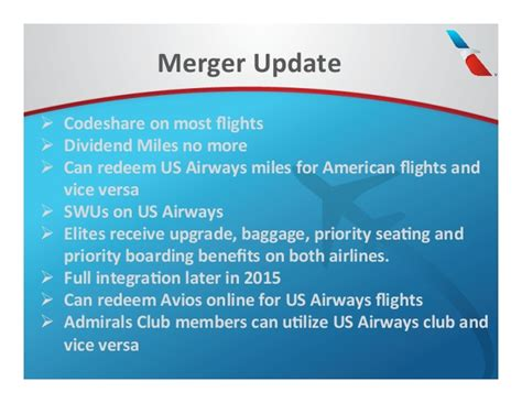 us airways american airlines merger implications the stengel angle american airlines 2015 ftu presentation