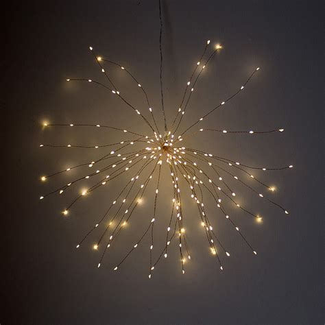 wire lights indoor outdoor led starburst light silver or copper