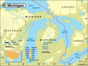 Michigan Us Map by State Map Of Michigan