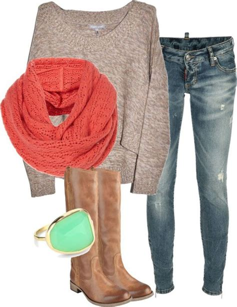 light colored boots trendy fall fashion light brown sweater brown