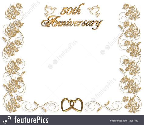 50th Anniversary Card Template by Templates Wedding Anniversary Invitation 50 Years Stock