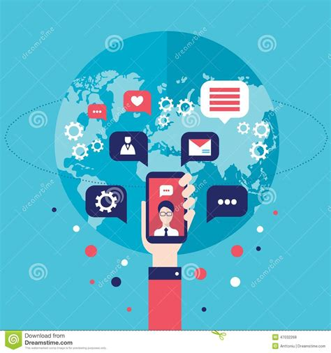 Search Social Networks By Email Free Phone Communication Concept Illustration Royalty Free Illustration Cartoondealer
