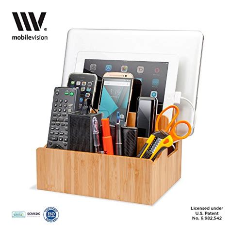charging station organizer for multiple devices mobilevision bamboo charging station multi device