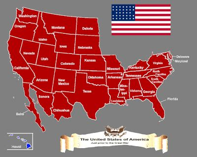 united states timeline map map of the united states of america in 1910 in an