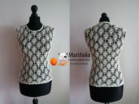 youtube blouse pattern how to crochet pineapple top and blouse free tutorial and