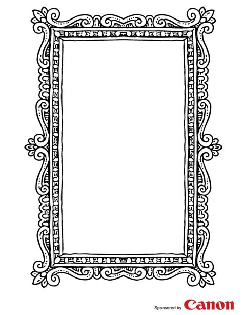 printable picture frames templates craft templates for picture frame 3