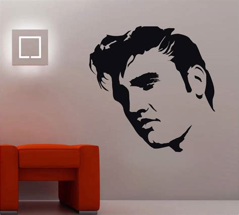 silhouette home decor elvis presley decal wall sticker art home decor vinyl