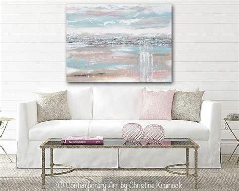 home decor sale uk original art abstract painting horizon landscape blue