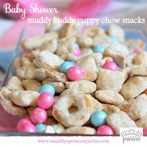 Baby Shower Snacks by Baby Shower Muddy Buddy Puppy Chow Snacks
